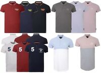 New Mens Crosshatch Polo T Shirt Pique Polo Contrasted Cotton Collared S-XXL