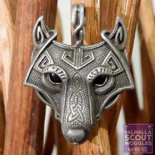 Scout Woggles - Norse Wolf Head Scout Woggle - Viking Neckerchief Slide