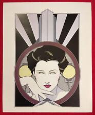 Patrick Nagel Orig.Poster print,ITT Canon Deco Suite 1979 Lifesaving Equipment
