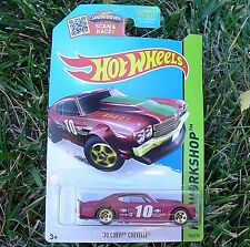 RED '70 Chevy Chevelle. HW Workshop ~ 2015. Speed Team. CFJ75. New in Package!