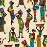 Timeless Treasures C5959 Cream Tribal Women  COTTON FABRIC BTY