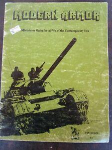 TSR MODERN ARMOR MINIATURE RULES-1977