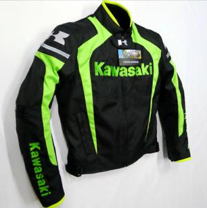 Kawasaki Herren Laufjacke Winter Motorrad Autorennen Bekleidung