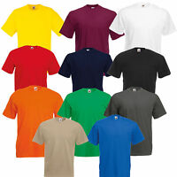 5 PACK FRUIT OF THE LOOM MENS COTTON T SHIRT PLAIN BLANK TEE SHIRTS SUMMER TOP