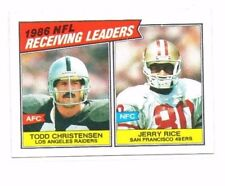 Jerry Rice, Todd Christensen 1987 TOPPS, Receiving Leaders, football card!!!