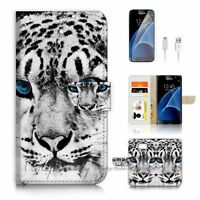 ( For Samsung S7 ) Wallet Case Cover P4053 Snow Leopard
