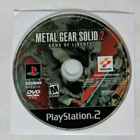 Metal Gear Solid 2: Sons of Liberty (Sony PlayStation 2, 2001) Game Disc Only