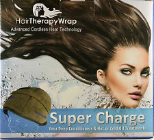 Hair Therapy Wrap / Cordless Heating Cap (Brown Wrap) + Free Shipping