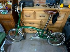 Brompton M3L racing green folding city bike