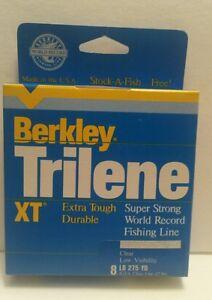 Berkley TRILENE XT 8 LB ~ 275  YARDS ~CLEAR EXTRA Tough Durable NEW!!