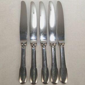 5 Christofle France Silverplate Cluny Dinner Knives - Estate SL
