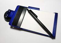 Blauer Notizblock mit Kugelschreiber RICHTER / HR Auto KFZ Saugerbefestigung