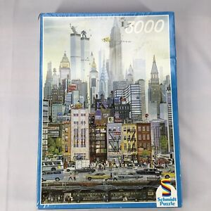 Schmidt 3000 Piece NEW YORK City Puzzle Twin Towers Times Square Complete