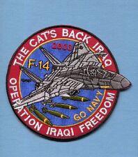 GRUMMAN F-14 TOMCAT OIF IRAQI FREEDOM US NAVY VF- Fighter Squadron Jacket Patch