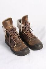 Vintage Palladium Combat Ankle Lined Leather Womens Boots  UK 5.5 Brown - S768