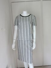 M&S Collection ladies two piece skirt and top set size 12 black/ivory RRP £50