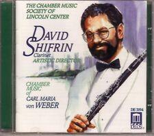 Chamber Music Carl Maria von Weber 1997 Delos US Shifrin new sealed DE-3194