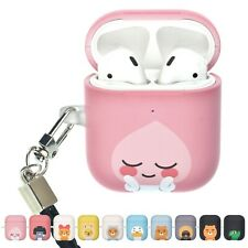 Kakao Friends AirPods Case with Neck Lanyard Hard PC Shell Cover
