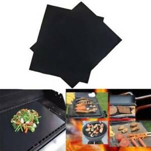 2PCS UK BBQ Grill Mat Non Stick Oven Liners Teflon sheet Cooking Baking Reusable