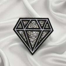 Embroidery Diamond Sew On Iron On Patch Badge Applique Sticker Craft Transfer