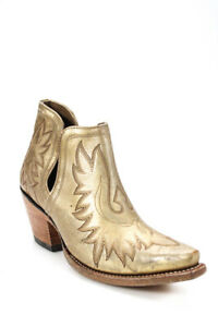 Ariat Womens Dixon Naturally Distressed Ankle Boots Gold Size 7