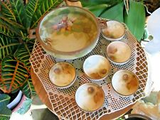 Nippon Hand Painted Nut Bowl and 6 individual bowls-Antique & Sweet