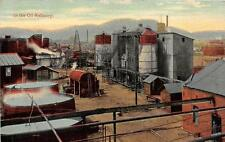 IN THE OIL REFINERY POSTCARD (c. 1910)