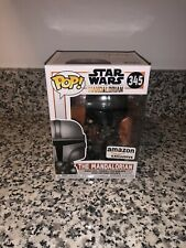 Funko POP: Star Wars The Mandalorian Chrome Mandalorian Amazon