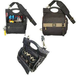 CLC 1509 Large 21 Pocket Professional Electrician's Zippered Tool Belt Pouch