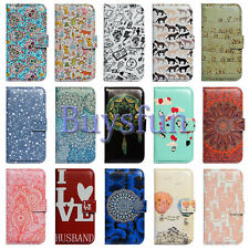 Bcov Cat Penguin Flower Wallet Leather Cover Case For iPhone 6 6S Plus Touch