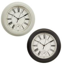 Reloj De Pared De Lincoln tradicional con Dial-Negro o Crema de temperatura