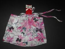 New Capezio Wrap skirt girls size s/m Potpourri BFD bright pink flowers w/ black