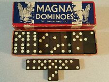 Vintage Eagle MAGNA DOMINOES by The Embossing Co. Albany, NY