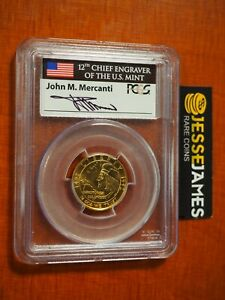 1992 W $5 GOLD COLUMBUS COMMEMORATIVE PCGS MS69 JOHN MERCANTI SIGNED LABEL