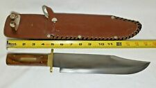 "15 Inch Hunting Knife, Beautiful Handle, Very Detailed Sheath With 10"" SS Blade"
