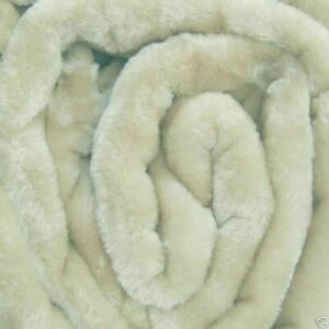 X LARGE Cream Mink FUR Blanket Sofa / Bed Throw 200x240cm