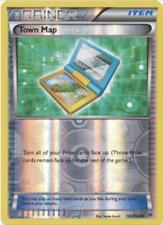Pokemon, Breakthrough, 4X Town Map 150/162 , Reverse Holo, New, NM/M