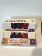 Holiday Bright Lights  C9  Christmas Light Bulbs  Multicolored  1 in. 10 lights