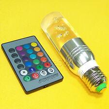 E27/E26 9W RGB 16Color Changing Magic LED Crystal Light Bulb Lamp Remote Control