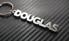Douglas Nom Personnalisé Porte-Clé Porte-Clé Sur-Mesure Acier Inoxydable Cadeau