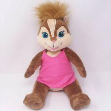 "Build a Bear Workshop Chipettes Chipmunks BRITTANY 16"" Stuffed Plush Pink Dress"