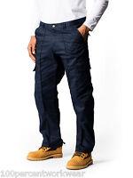 2 x Uneek UC902 Mens Work Cargo Combat Black Navy Trousers Pants Short Reg Tall