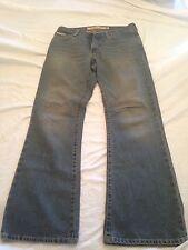 Men's Ben Sherman Zip Fly Jeans Size 31 X 32 Blue Distressed Denim