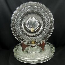 Imperial Glass ~ TRADITION - Clear ~ Luncheon Plate - Set of 4