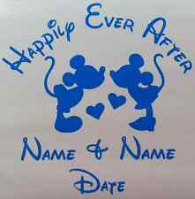 Disneys Mickey & Minnie Mouse customized Happily Ever After vinyl decal
