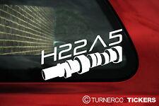 """2x H22A5 code moteur """"cam"""" autocollants/decals"""