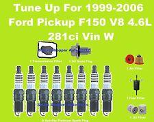 Tune Up 99-06 Ford F150 V8 4.6L Spark Plug, Oil, Air, Fuel, Transmission Filter