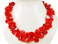 Coral Chains in abgeflachte Drop Polished and Attractive Strung