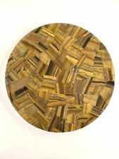 Handmade Semi precious Brown Tigers's eye coffee table top Home Decorative Item