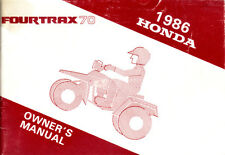 Honda TRX 70 FourTrax Owner's + Service Manaul - High Res PDF Download